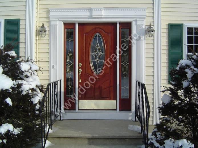 входные красивые двери для загородного дома