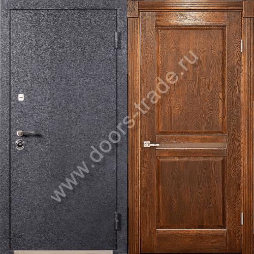 уличная дверь металлическая с отделкой мдф