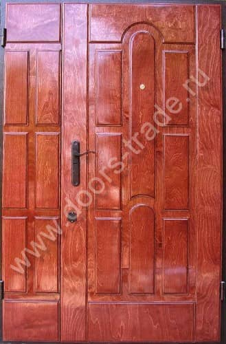 железные двери под красное дерево